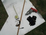 Milwaukee tools, eye protection, gloves, aluminum