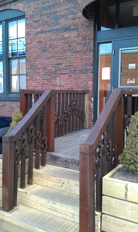 Boston Distillery by Paul Shampine ecofriendly stairway entance artist colony